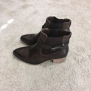Maurices Shoes - MAURICES | Breana Buckle Ankle Boots Brown Sz 9M
